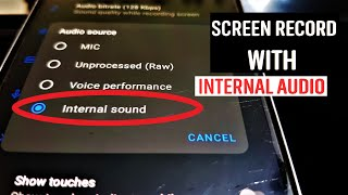 Screen Record With Internal Audio is BACK!!