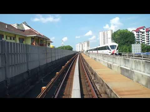 LRT KJ Line KJ01 Gombak - KJ12 Dang Wangi Bombardier Innovia Metro 300 (Part 1)