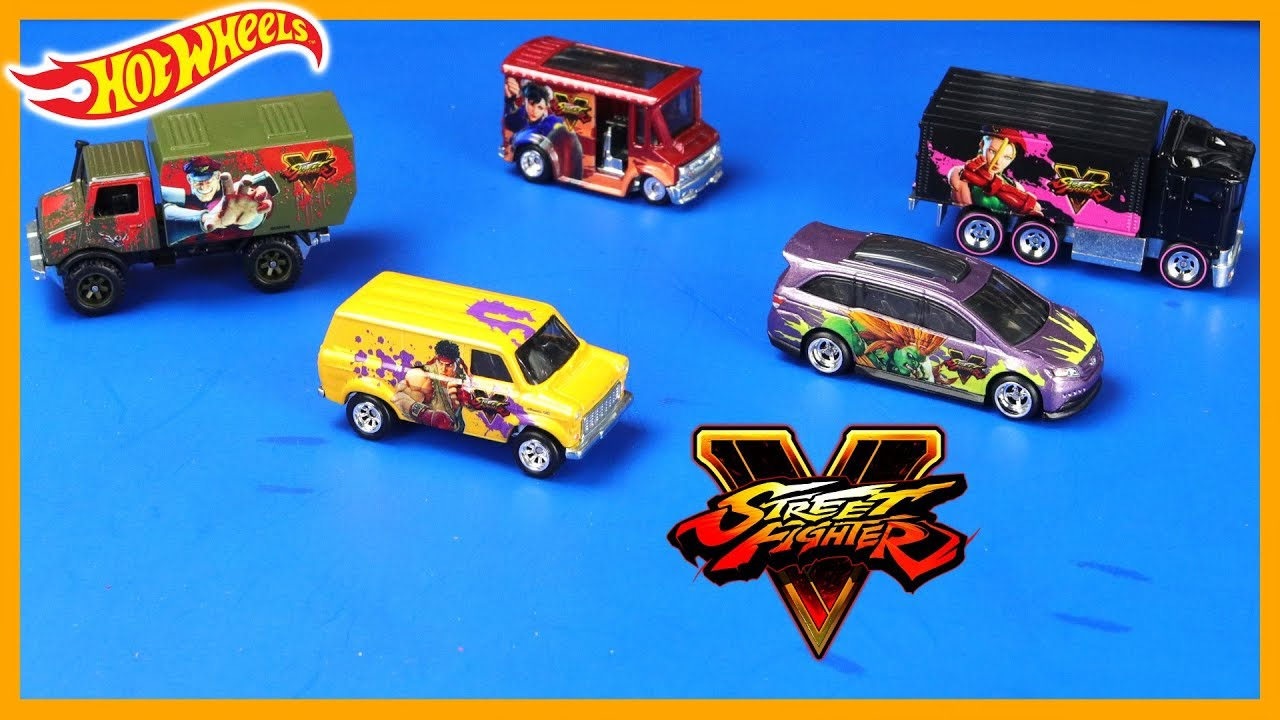 Hot Wheels Street Fighter Premium 5 Car Set Youtube