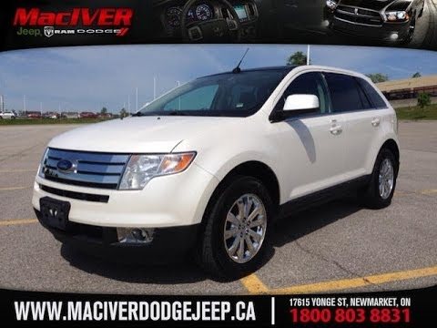 2010 White Ford Edge Limited Newmarket Ontario | MacIver Dodge Jeep