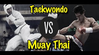 Muay Thai Champion Vs. Taekwondo Black Belt  Lawrence Kenshin