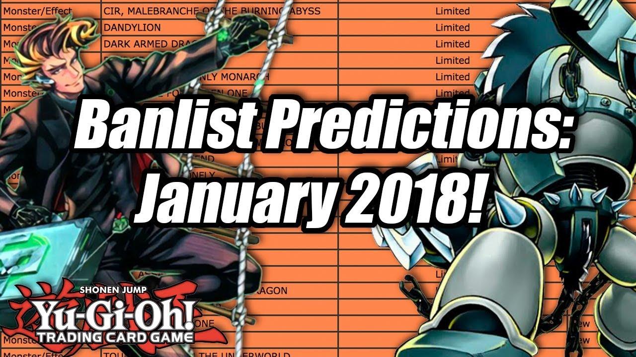 Yu Gi Oh! Banlist Predictions: January 2018!