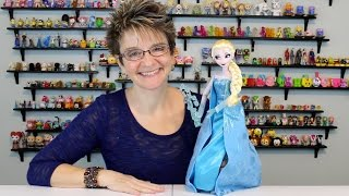 DISNEY'S SINGING ELSA DOLL WITH LIGHT UP ICE SWIRLS AND DRESS - OPENING AND REVIEW