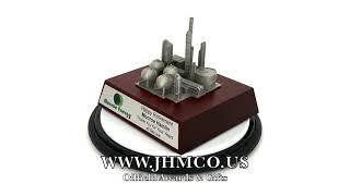 Oil Refinery Award Plaque Gift JHM#179 Downstream Trophy Model