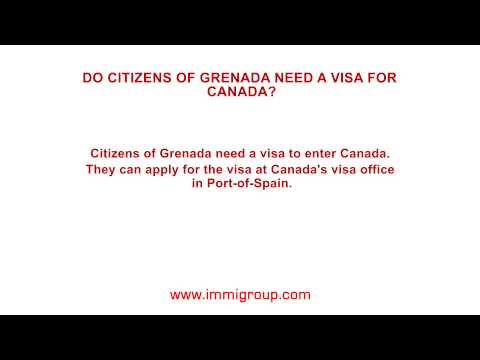 Do citizens of Grenada need a visa for Canada?