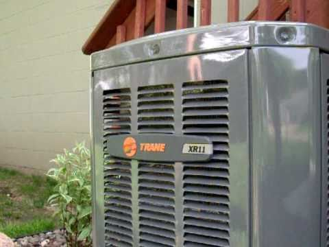 Trane XR11 A/C - YouTube on