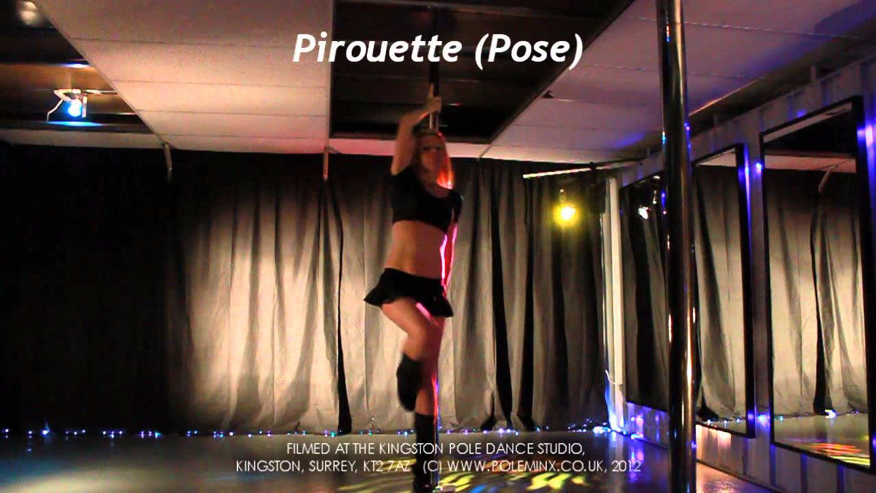Pirouette Pose. Pole Dancing Level 1 Beginners Moves Demo ...
