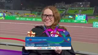 Jessica Lewis Awarded Gold Medal In 100m, August 28 2019