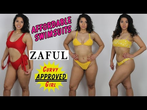 fa2604c5d84d3 Affordable Curvy Girl Swimsuits | ZAFUL Swimsuit Try-on Haul & Review | pt.  1 - YouTube