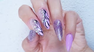 Simple Animal Print Nail Design With Gels