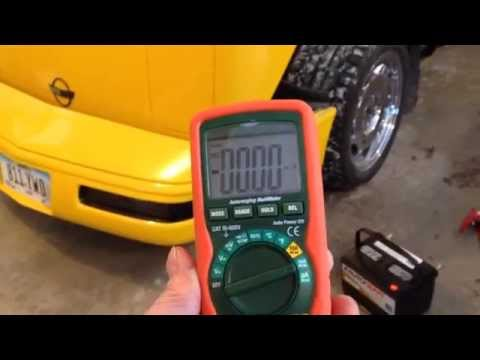 Parasitic battery drain diagnosis- C4 Corvette