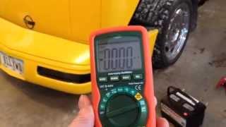 Parasitic battery drain diagnosis- C4 Corvette
