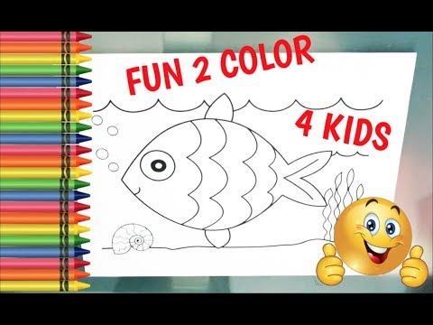 LEARN COLORS - Fish Coloring Page! Fun Coloring Activity For Kids!