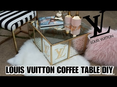 LOUIS VUITTON INSPIRED MIRRORED GLAM LUXURY COFFEE TABLE DIY | DOLLAR TREE CHEAP | 2019