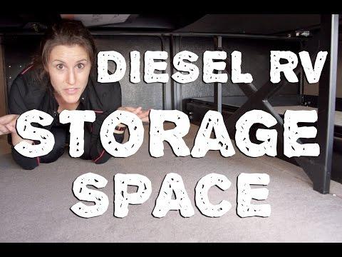 how-much-storage-is-under-a-diesel-pusher-motorhome?
