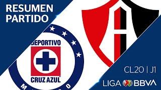 Resumen y Goles | Cruz Azul vs Atlas | Jornada 1 - Clausura 2020 | Liga BBVA MX
