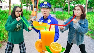 SEAL X Warriors & Couple Beautiful Girl Nerf Guns Dispute Orange Juice Battle   Moon Nerf War