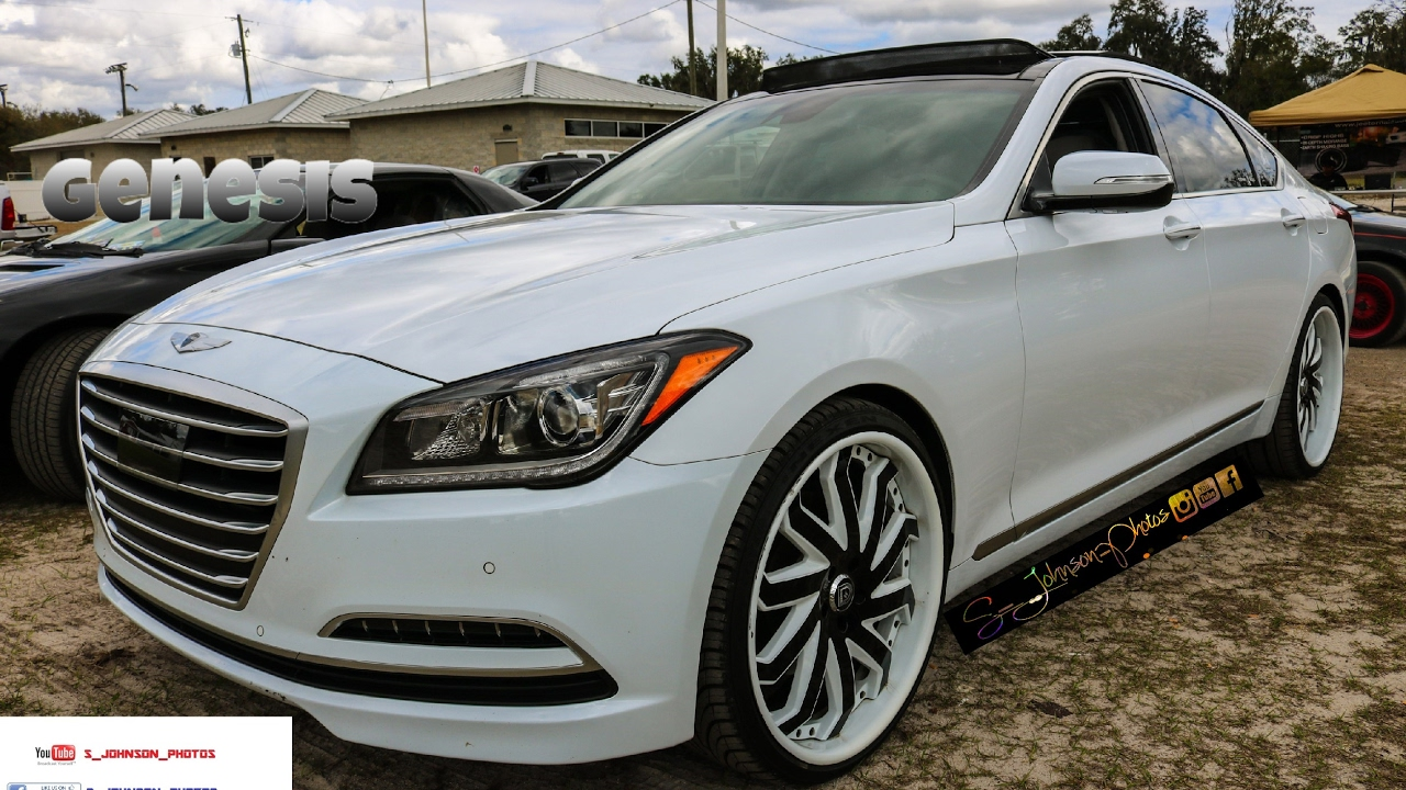 Cocaine white Hyundai Genesis on Lexani Forged in HD must ...
