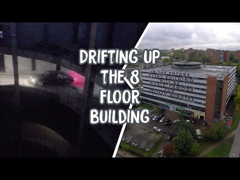 Drifting up the 8 floor building