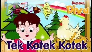 Tek Kotek Kotek (Anak Ayam Turun Berkotek)   Diva Bernyanyi   Lagu Anak Channel