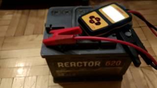Проверка пускового тока на АКБ Reactor 62 Ач