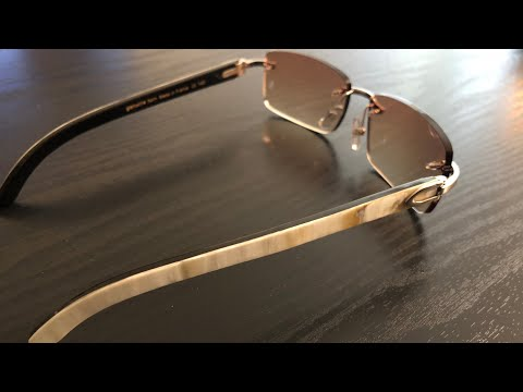 DHGATE Cartier Buffalo Horn AUTHENTIC VS FAKE sunglasses Unboxed (buffs)
