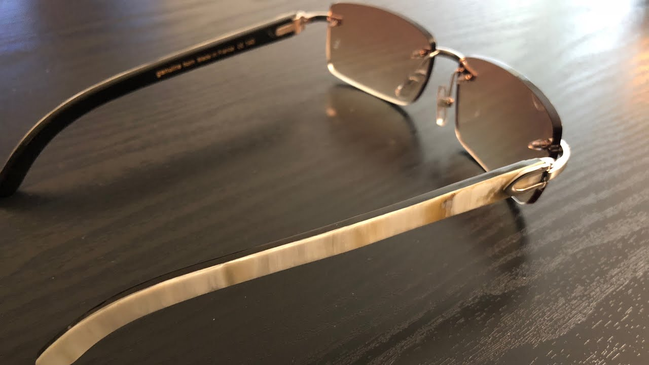 b7d6f1ce4f DHGATE Cartier Buffalo Horn AUTHENTIC VS FAKE sunglasses Unboxed (buffs)