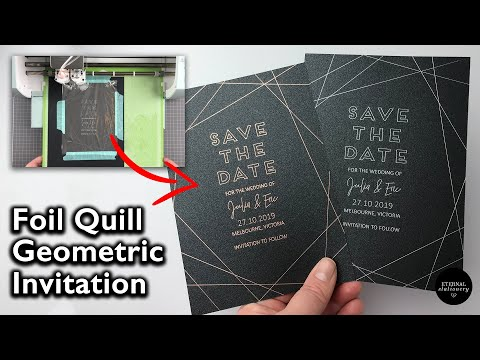 Foil Quill: How To Make Hot Foiled Geometric Save The Date Cards | Wedding Invitations DIY