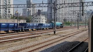 [철도]청량리발 서원주행 화물열차(#7097) 망우역 …