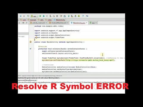Cannot Resolve R Symbol Android Studio 21 Tutorial