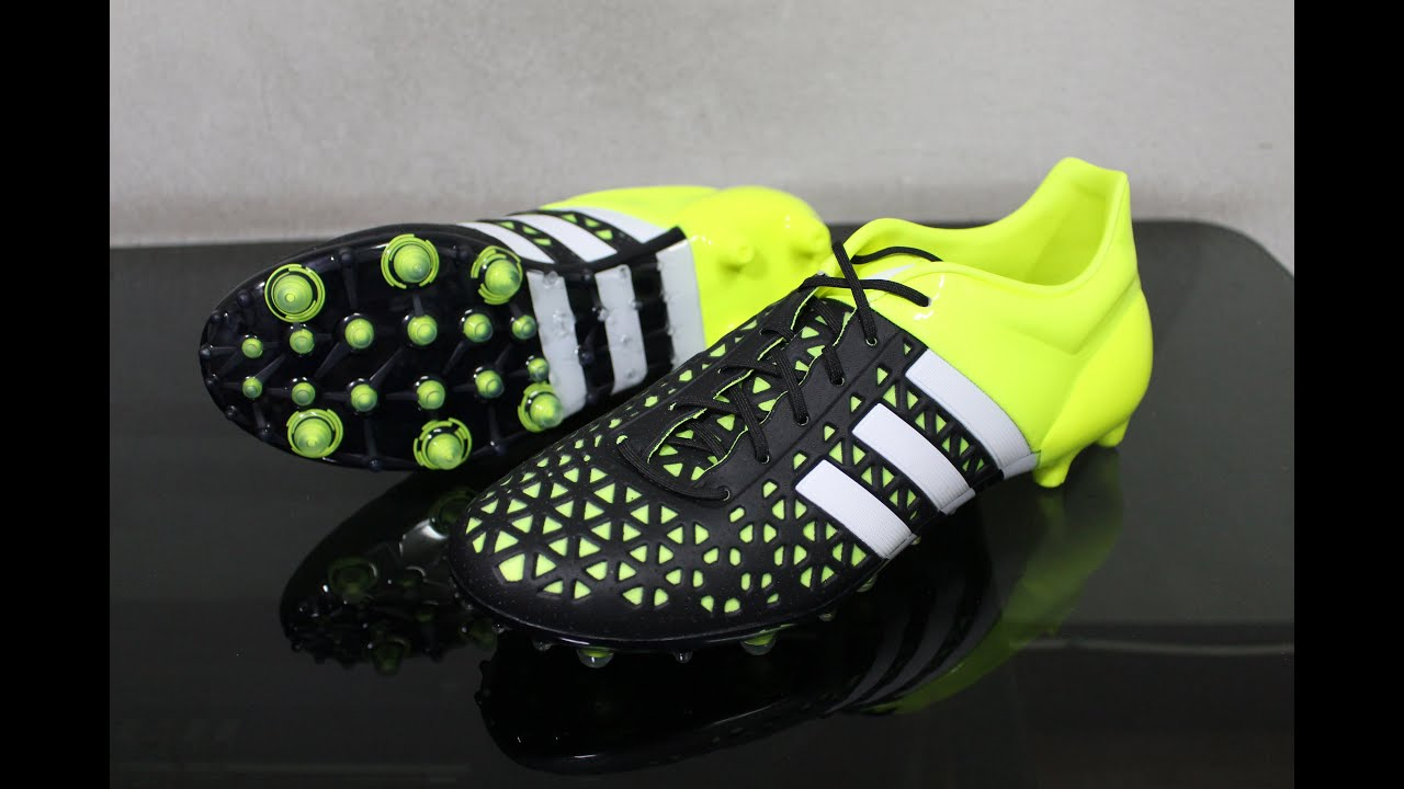 c68c7e39ac adidas ACE 15.1 FG AG Unboxing   On Feet HD (Core Black White Solar Yellow)