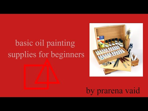 BASIC SUPPLIES NEEDED TO START OIL PAINTING// OIL PAINTING SUPPLIES FOR BEGINNERS