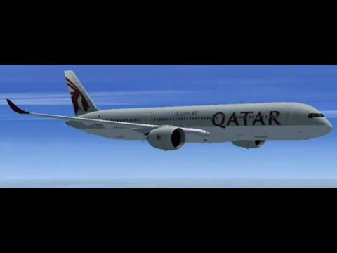 FSX Qatar A350 Singapore to Doha