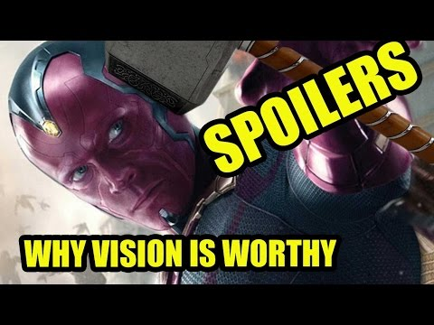 (AVENGERS 2 SPOILERS) Why Can Vision Lift...
