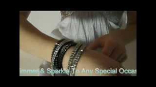 Rhinestone Wrap Bracelet, Perfect For Prom 2012