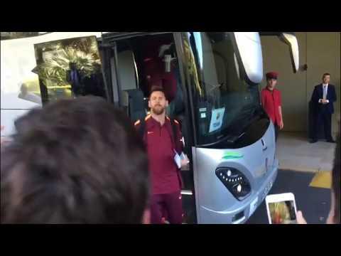 Llegada del FC Barcelona a Lisboa
