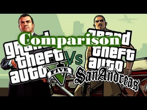 GTA V v GTA san Andreas little video