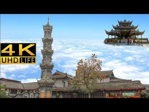 Jie zi ancient town in Chengdu, China,4K ultra hd documentar