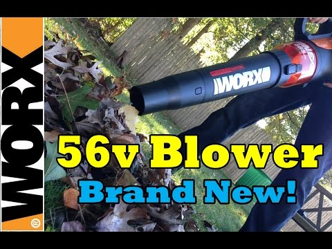 Worx 56 volt Cordless Leaf Blower - Review & Demo Video- WG591 Fall 2015