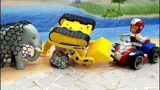 Мультики про машинки - видео для детей с игрушками Щенячий Патруль и Плеймобил - Простуда не помеха!