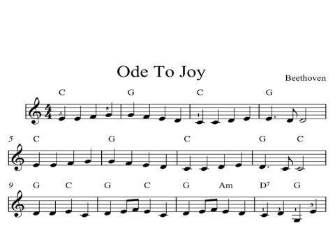 Ode To Joy: CLASSICAL SHEET MUSIC Piano Organ & Keyboard Book 1 ...