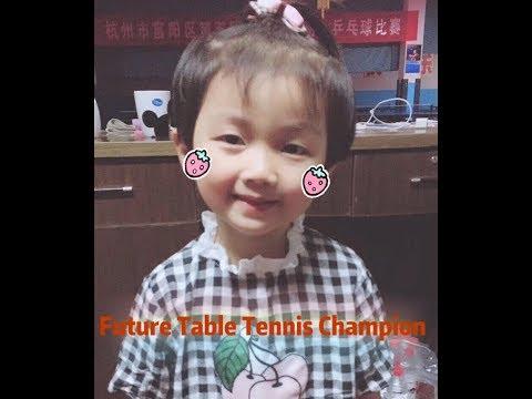 4 years old, Future table tennis champion ,Li Ying
