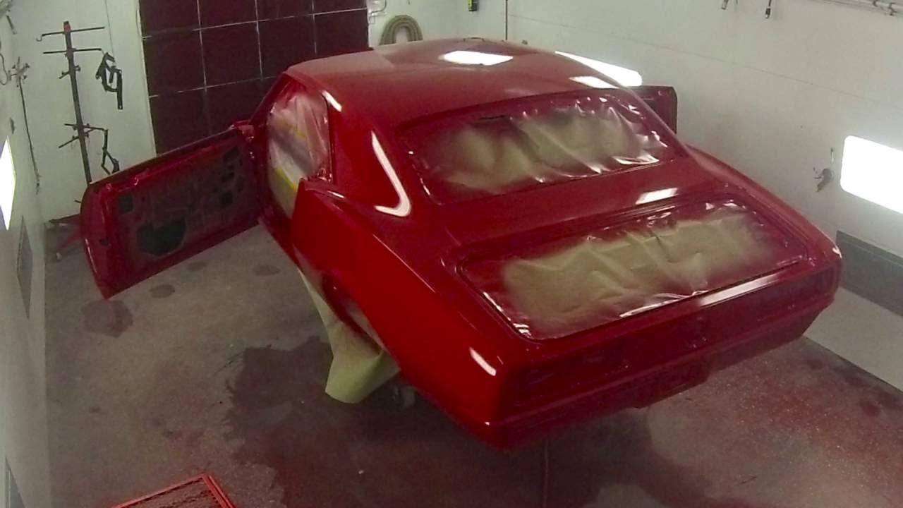 68 Chevy Camaro Matador Red Paint Job Youtube