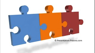 How to create 3D Puzzle Pieces Diagram : 3D PowerPoint Series