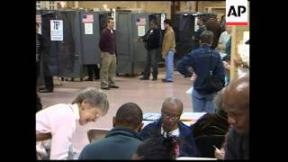 WRAP Polls open in New York, voters in solid Democrat state ADDS queues outside station