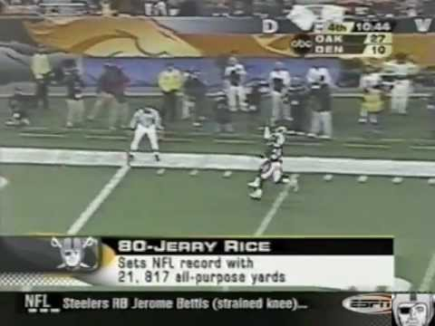 Rich Gannon sets NFL record along with Jerry Rice on MNF 2002 & ESPN2 with Eric Allen
