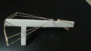 How To make an elastic band crossbow out of household materials - very simple