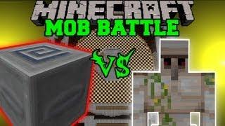 Iron Golem Vs. Slider Mimic Boss - Minecraft Mob Battles - Arena Battle - Aether 2 Mod