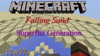 Minecraft Sand Fall Custom Superflat l Ep.3 12w37a HD