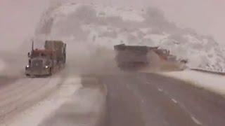 Snow Plow Run Off Road in Utah